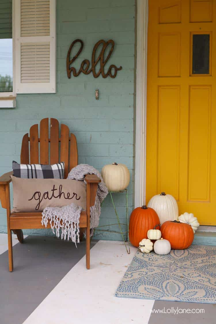 Fall Front Door Decorating Ideas-19-1 Kindesign