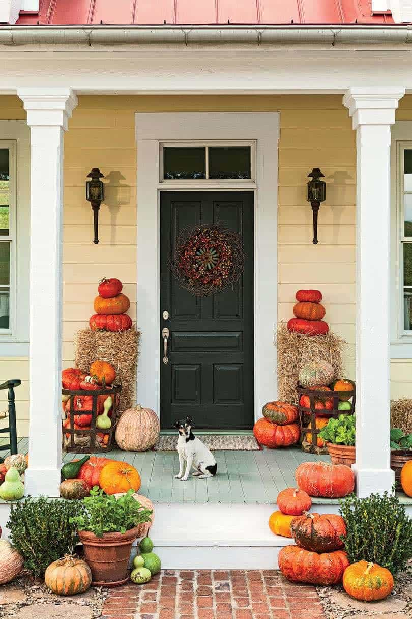 Fall Front Door Decorating Ideas-28-1 Kindesign