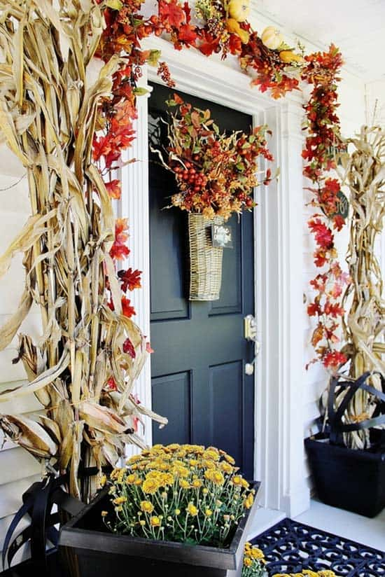 Fall Front Door Decorating Ideas-29-1 Kindesign
