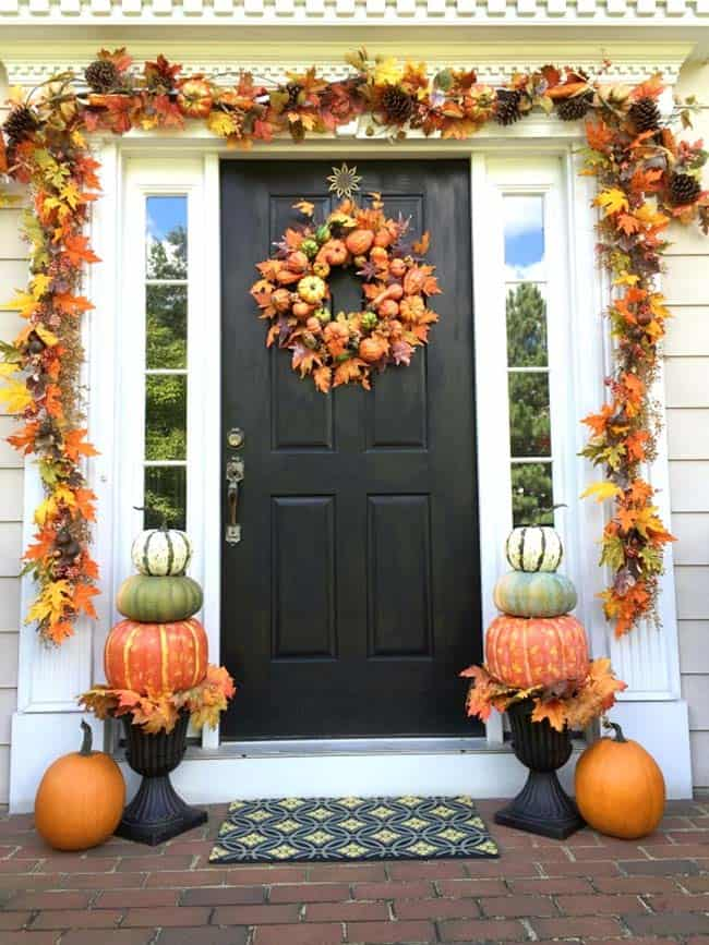 Fall Front Door Decorating Ideas-35-1 Kindesign