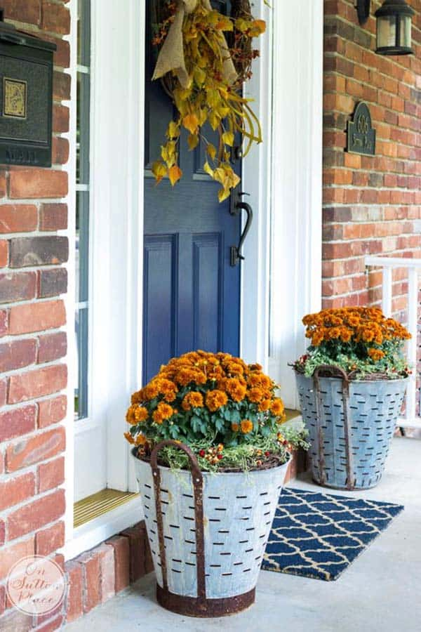 Fall Front Door Decorating Ideas-39-1 Kindesign