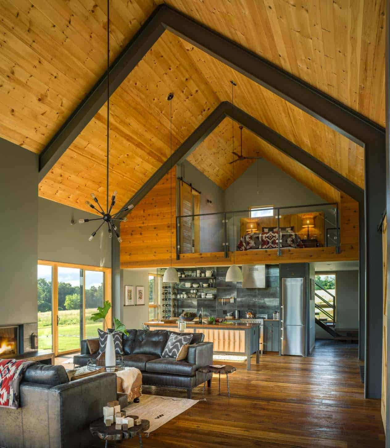 Small and cozy modern barn house getaway in vermont for A frame style house
