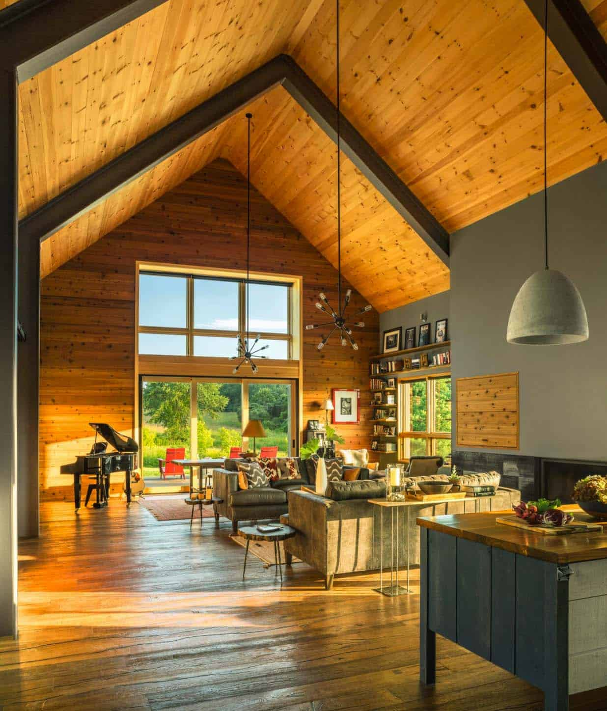 small and cozy modern barn house getaway in vermont. Black Bedroom Furniture Sets. Home Design Ideas
