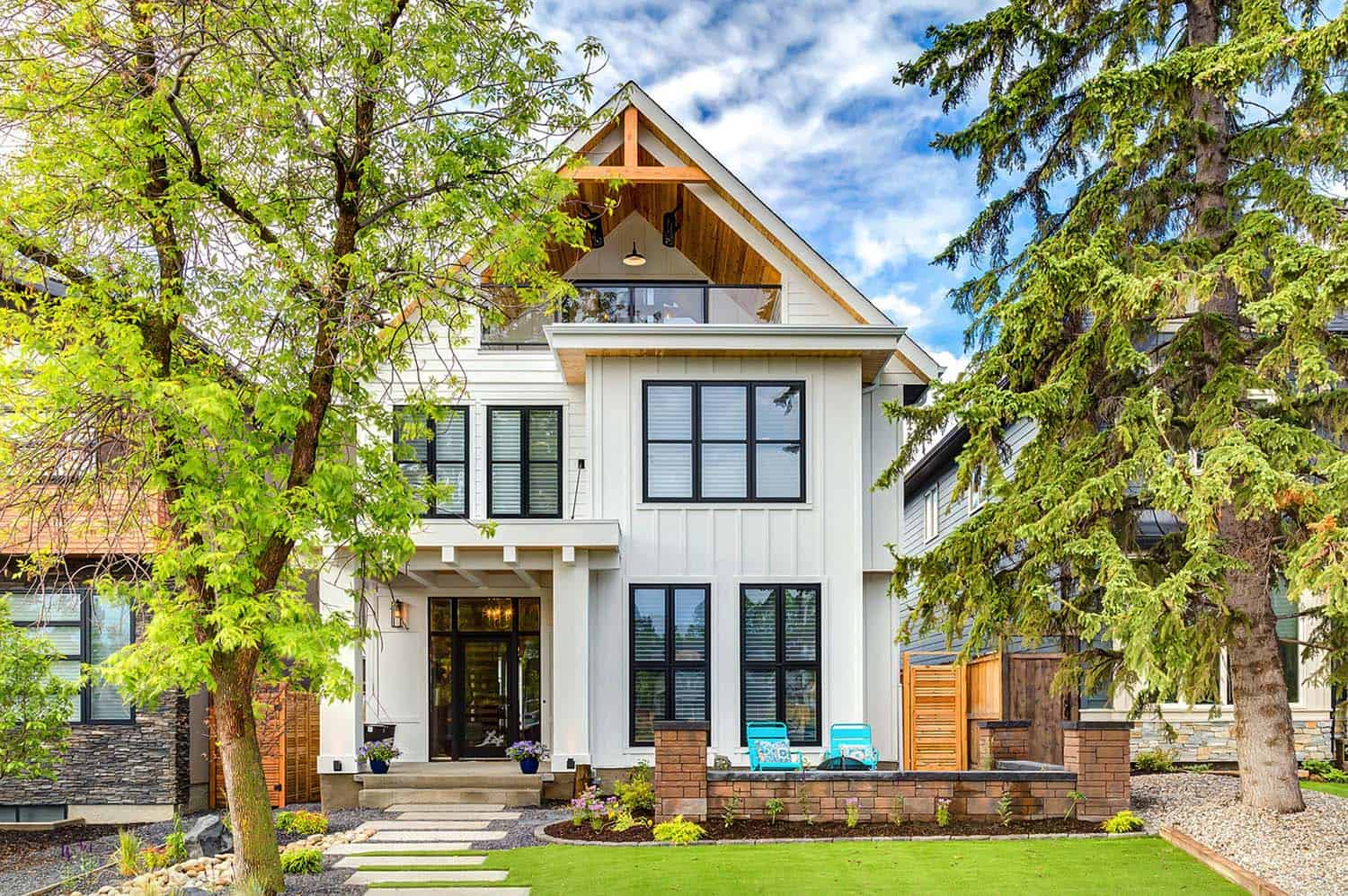 Calgary home radiates with fresh modern farmhouse style for Modern farmhouse architecture