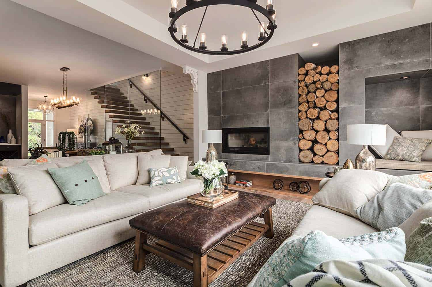 surprising farmhouse style decorating living room | Calgary home radiates with fresh, modern farmhouse style