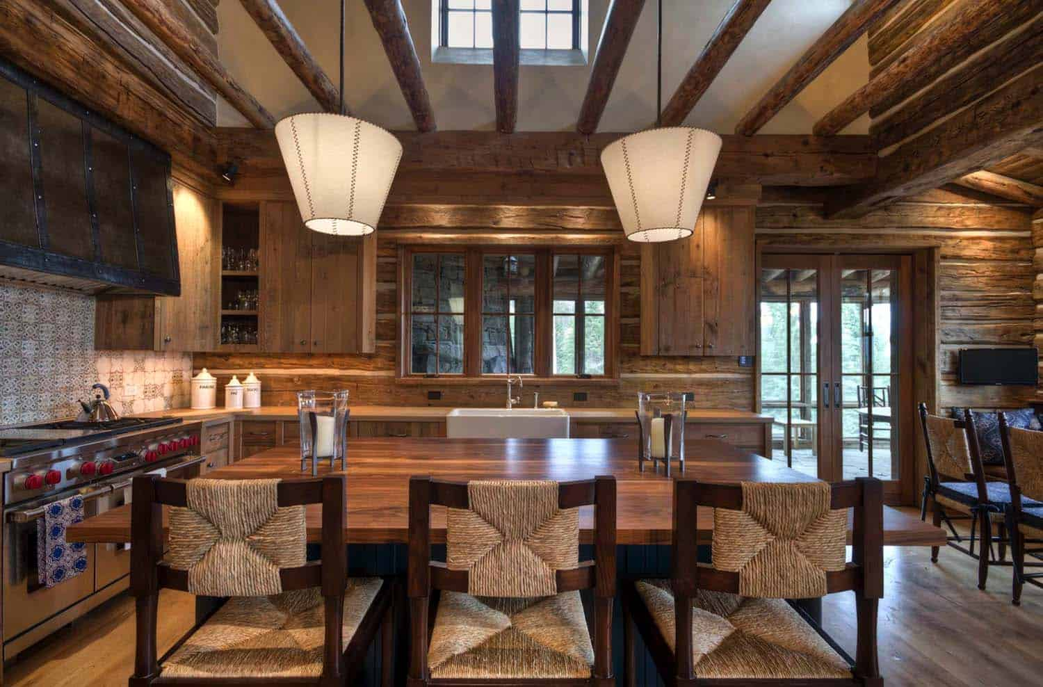 mountain homes interiors mountain home surrounded by forest offers rustic living in 14302