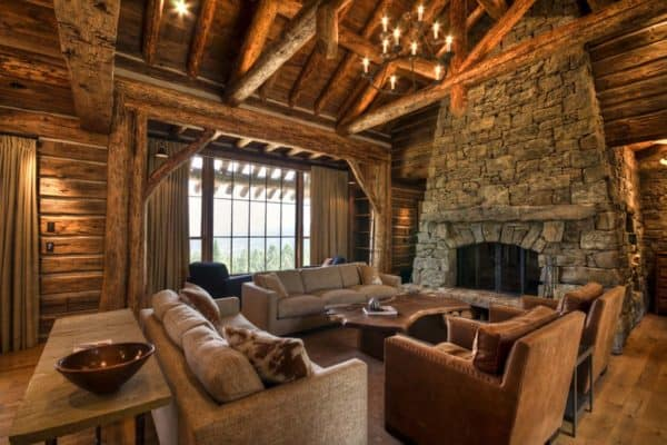 featured posts image for Mountain home surrounded by forest offers rustic living in Montana