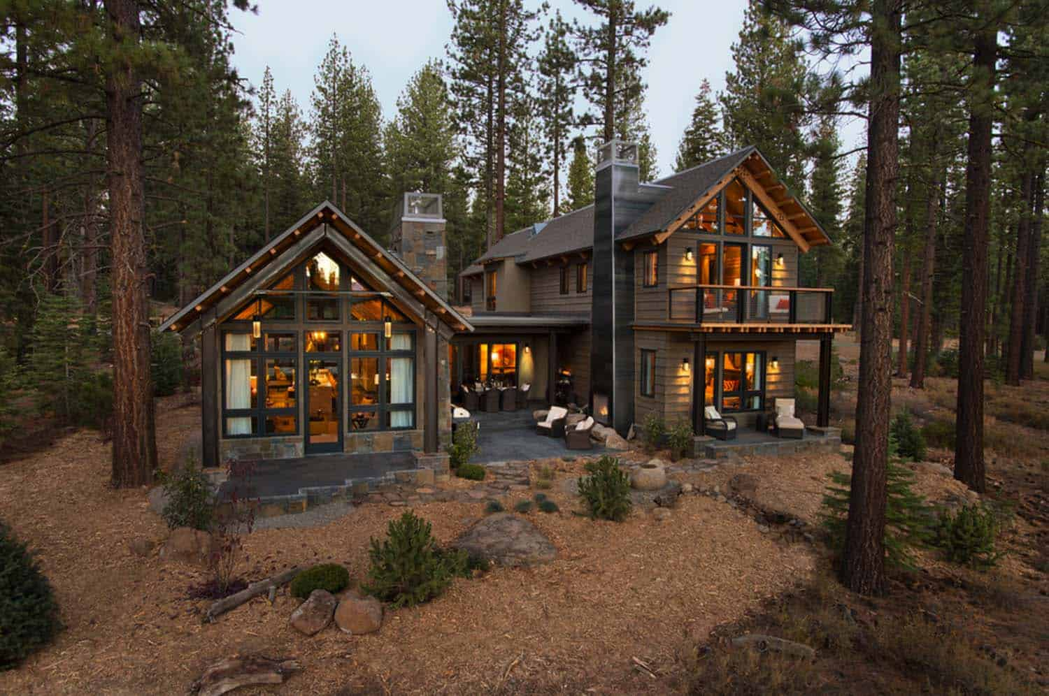 Rustic mountain house with a modern twist in truckee for The mountain house