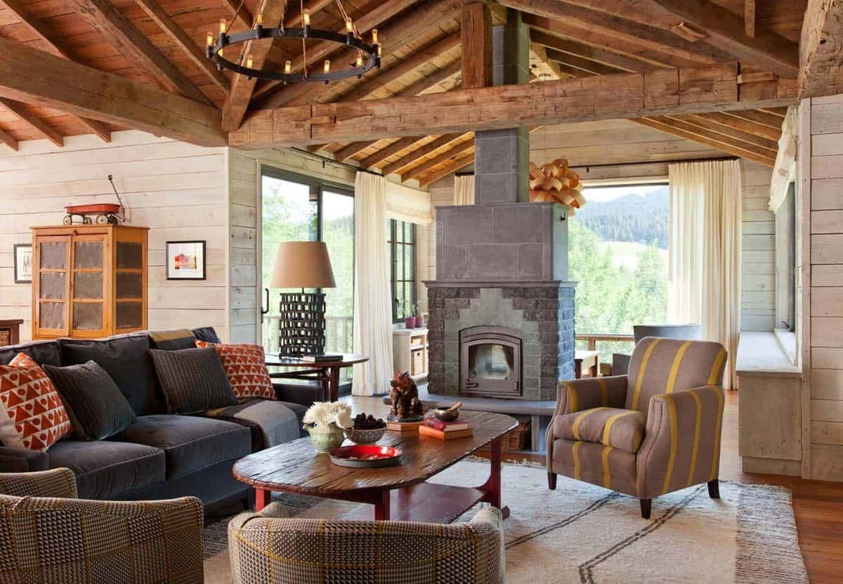 Rustic mountain retreat nestled in the bridger mountain for Rustic retreat