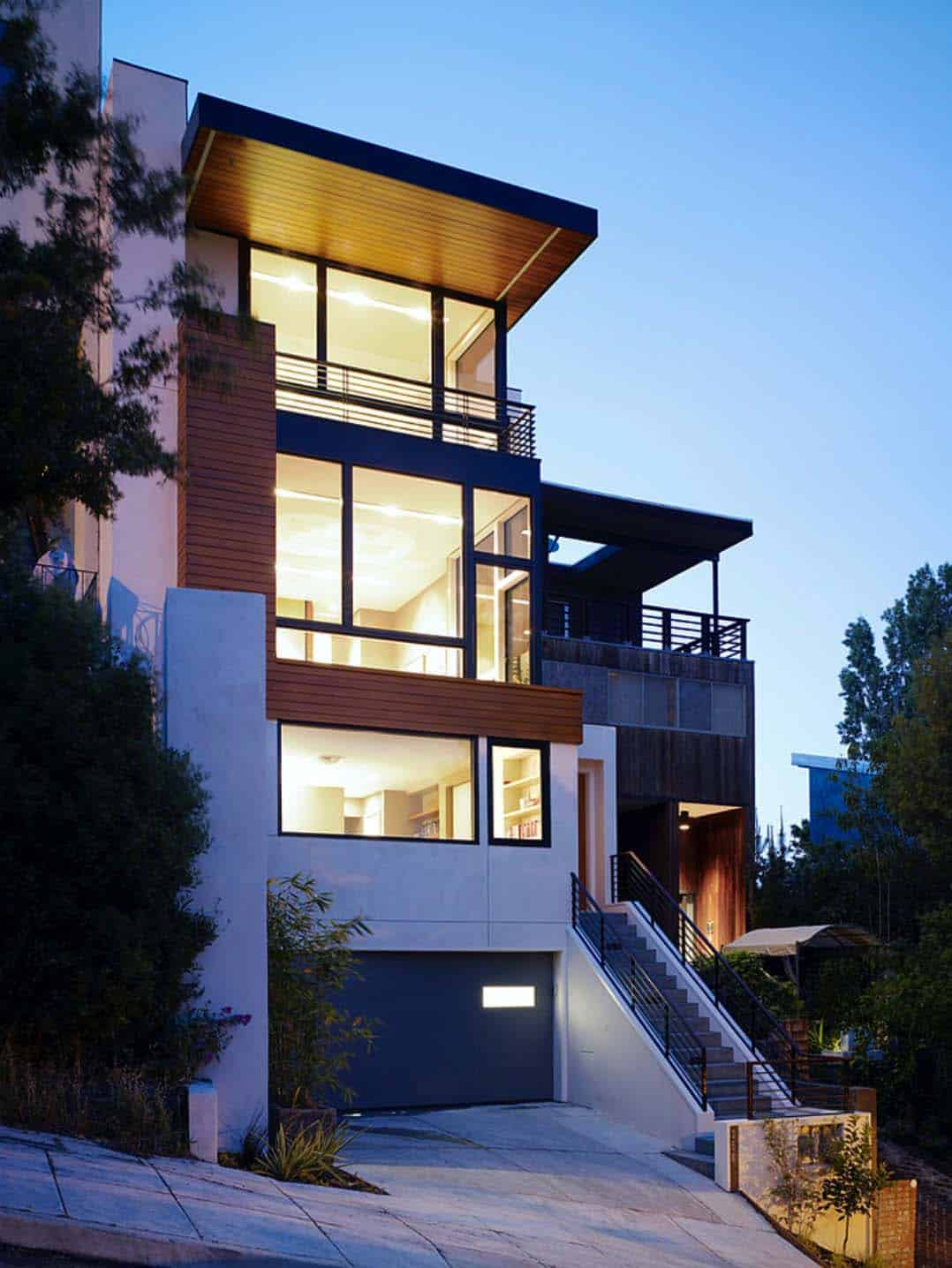 Architecture Modern Hillside Home-28-1 Kindesign