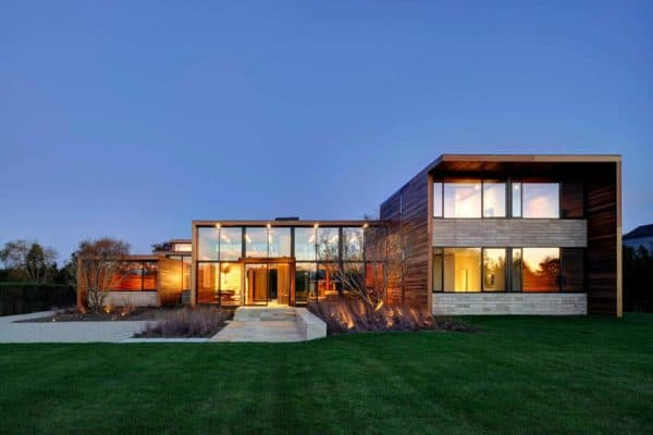 featured posts image for Striking transparency defines wood-cladded Bridgehampton home