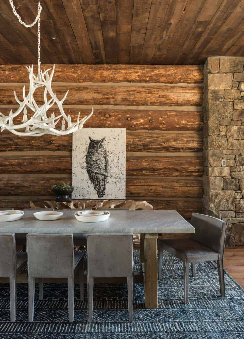 Rustic chic mountain home in the rocky mountain foothills for Modern rustic house plans