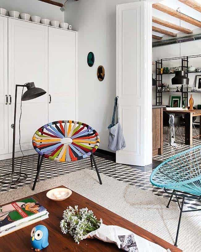 Retro-Modern Apartment-Egue y Seta-03-1 Kindesign
