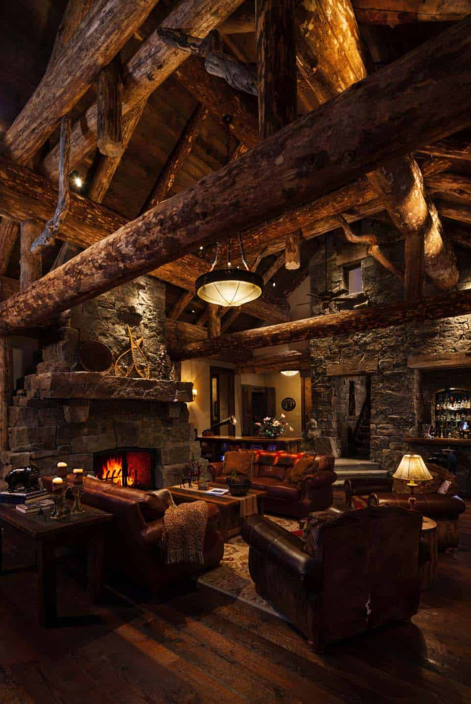 Rustic Log Home Design-Faure Halvorsen Architects-04-1 Kindesign