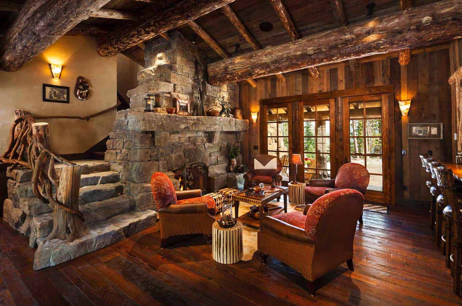 Rustic Log Home Design-Faure Halvorsen Architects-09-1 Kindesign