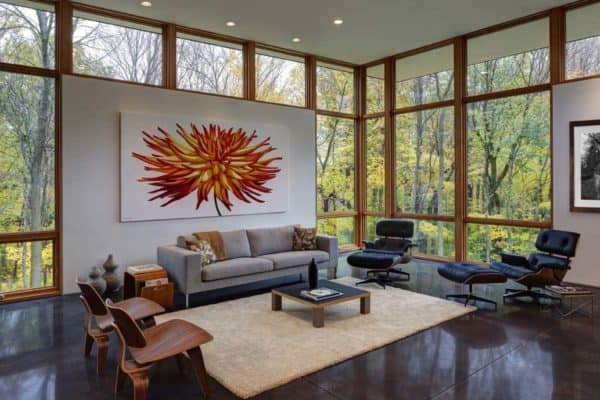 featured posts image for Visually striking modern refuge surrounded by forest in Wisconsin