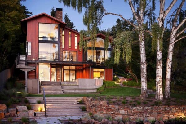 featured posts image for Contemporary hillside home designed for family living on Mercer Island
