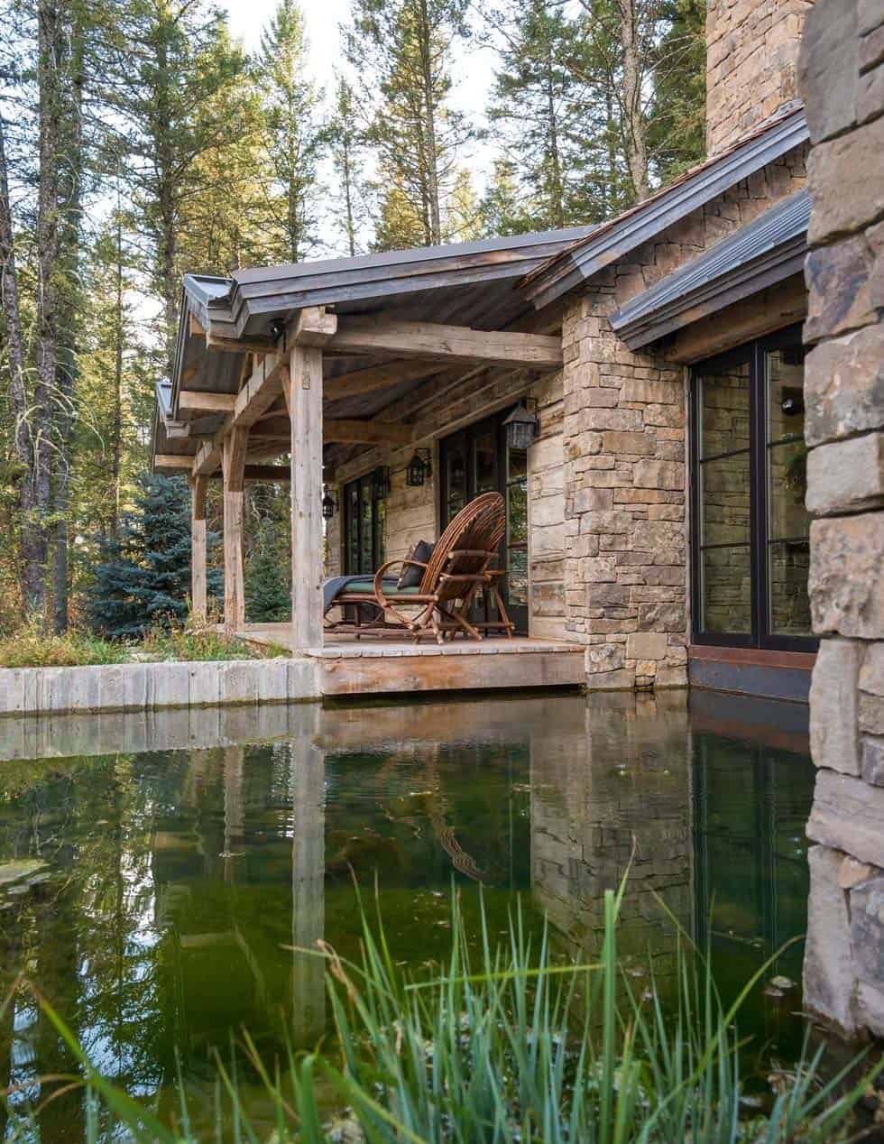 Contemporary Rustic Mountain Retreat-JLF Architects-04-1 Kindesign
