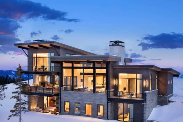 featured posts image for Modern mountain home boasts chic and stylish living in Montana