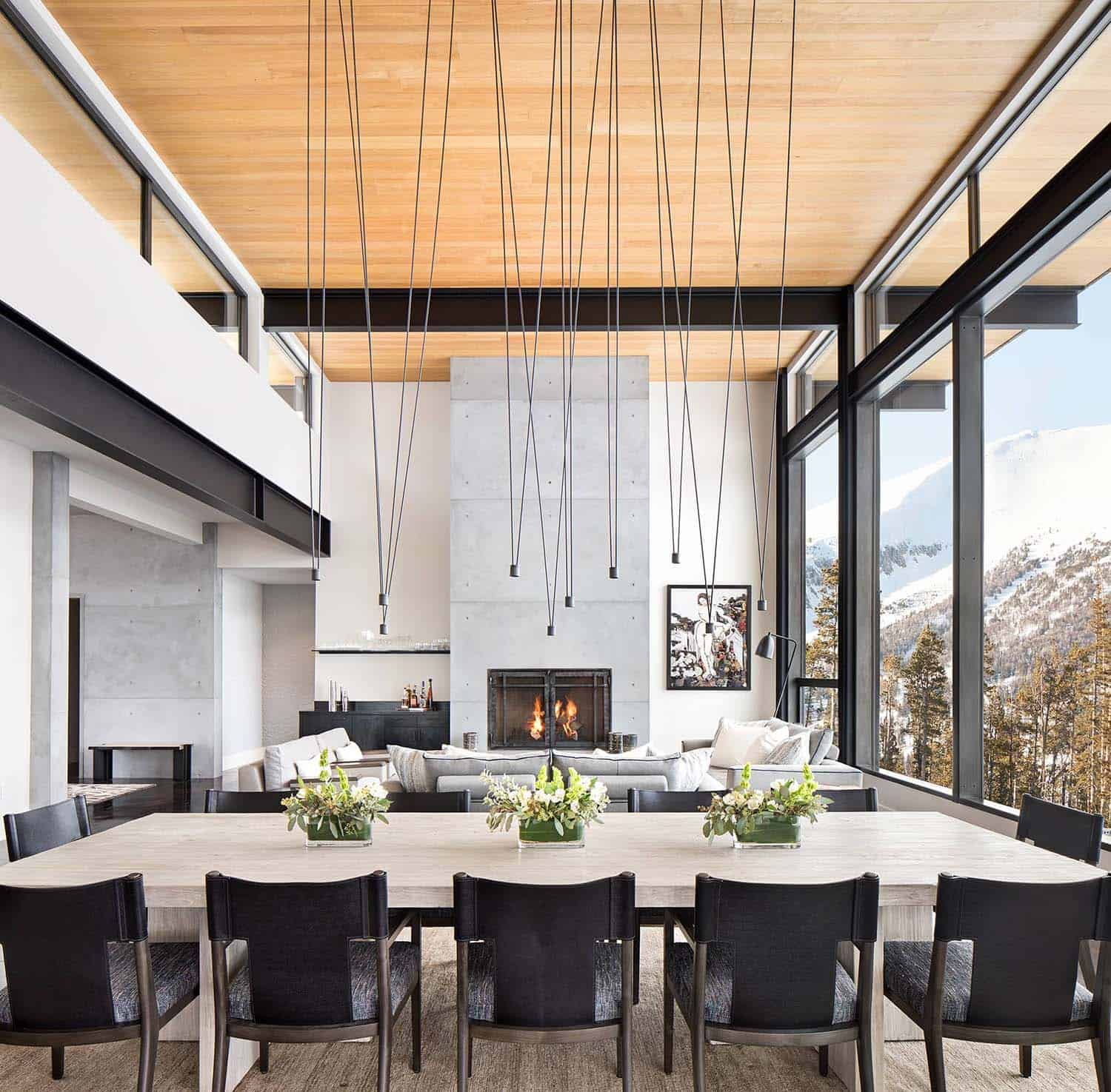 51 Modern Living Room Design From Talented Architects: Modern Mountain Home Boasts Chic And Stylish Living In Montana