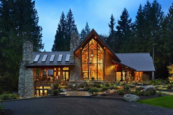 featured posts image for Rustic contemporary home nestled in secluded forests of Washington