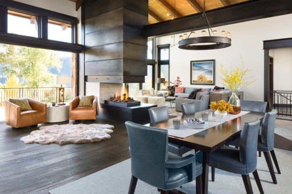 Vail Valley retreat is defined by impressive mountain surroundings. One Kindesign   Home decorating inspiration  remodeling and design
