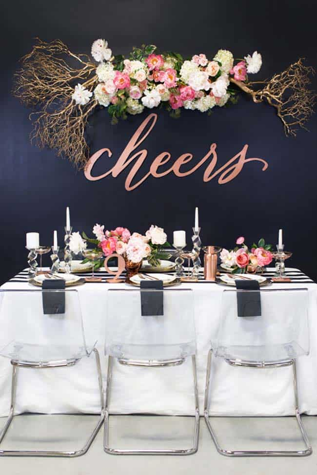 Glamorous Party Table Settings For New Years Eve-11-1 Kindesign