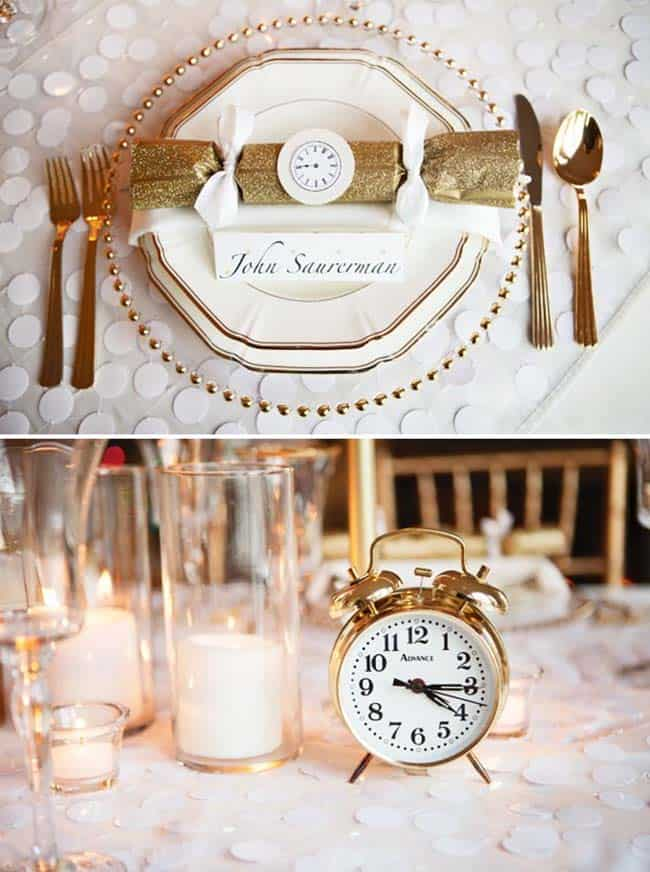Glamorous Party Table Settings For New Years Eve-19-1 Kindesign