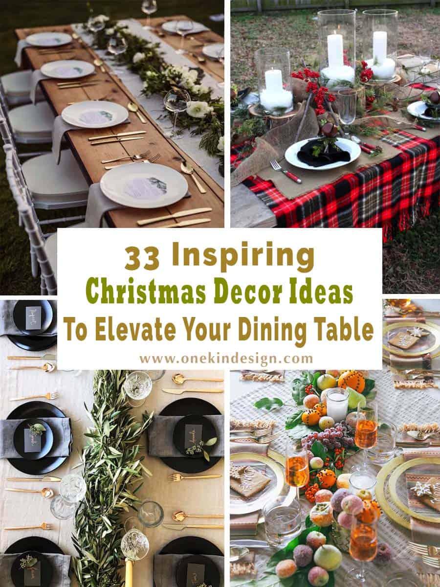 christmas decor ideas for dining table