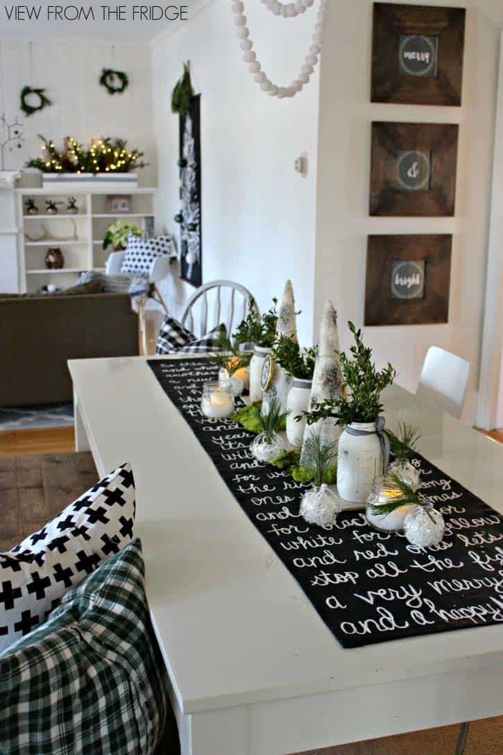 Inspiring Dining Table Christmas Decor Ideas 10 1 Kindesign