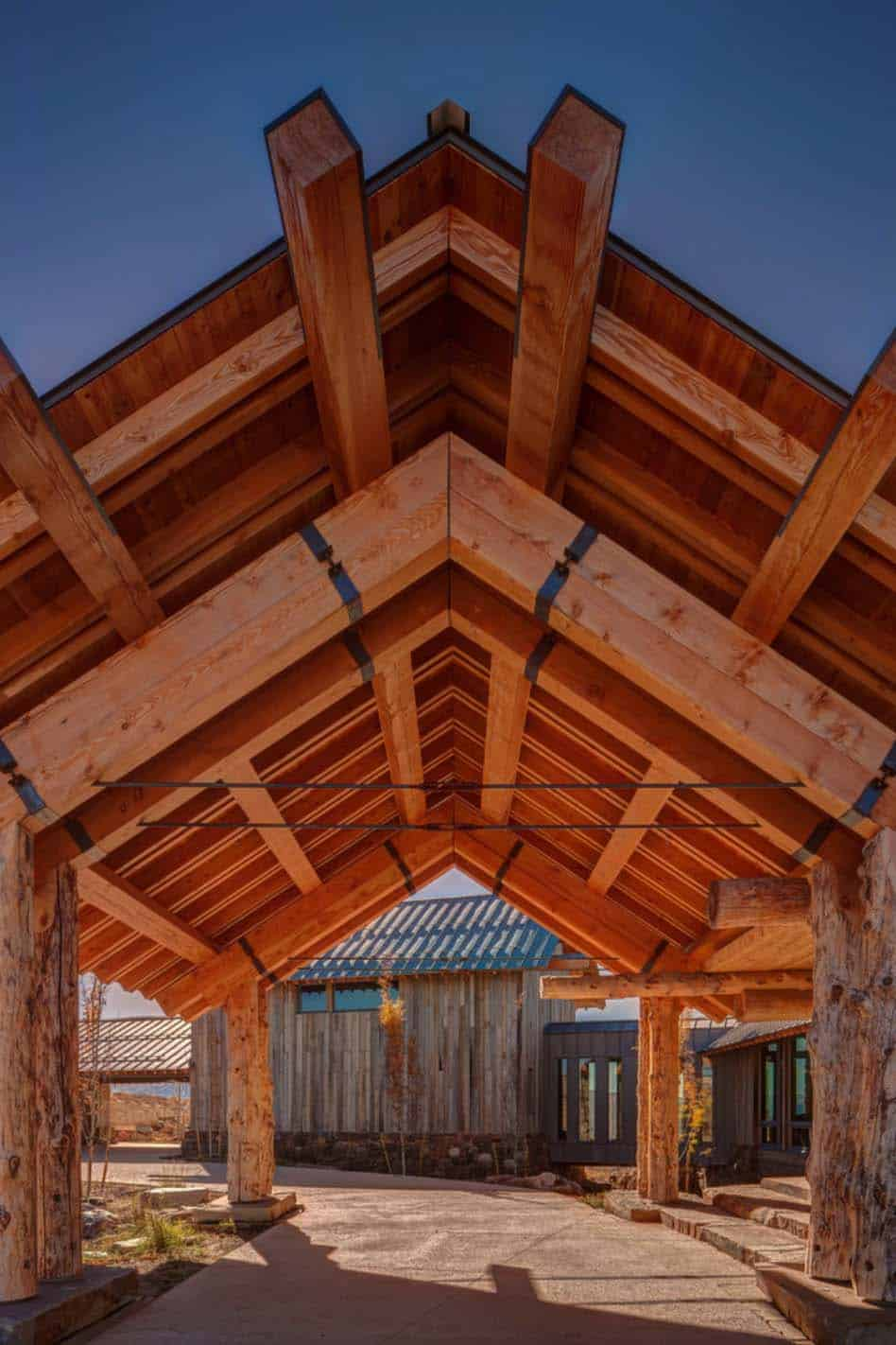 Modern Rustic Log Home-Shubin Donaldson Architects-07-1 Kindesign