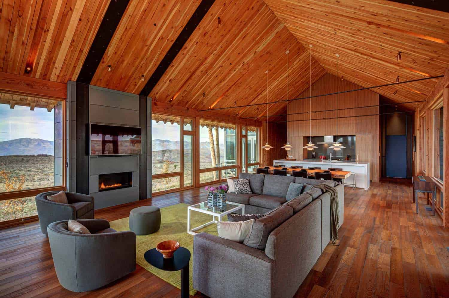 Modern Rustic Log Home-Shubin Donaldson Architects-08-1 Kindesign