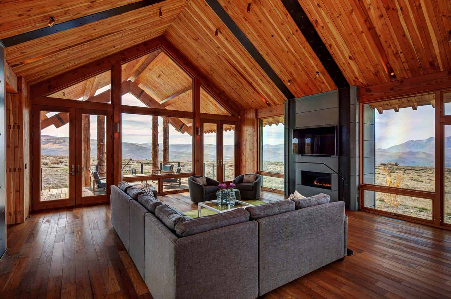 Modern Rustic Log Home-Shubin Donaldson Architects-09-1 Kindesign
