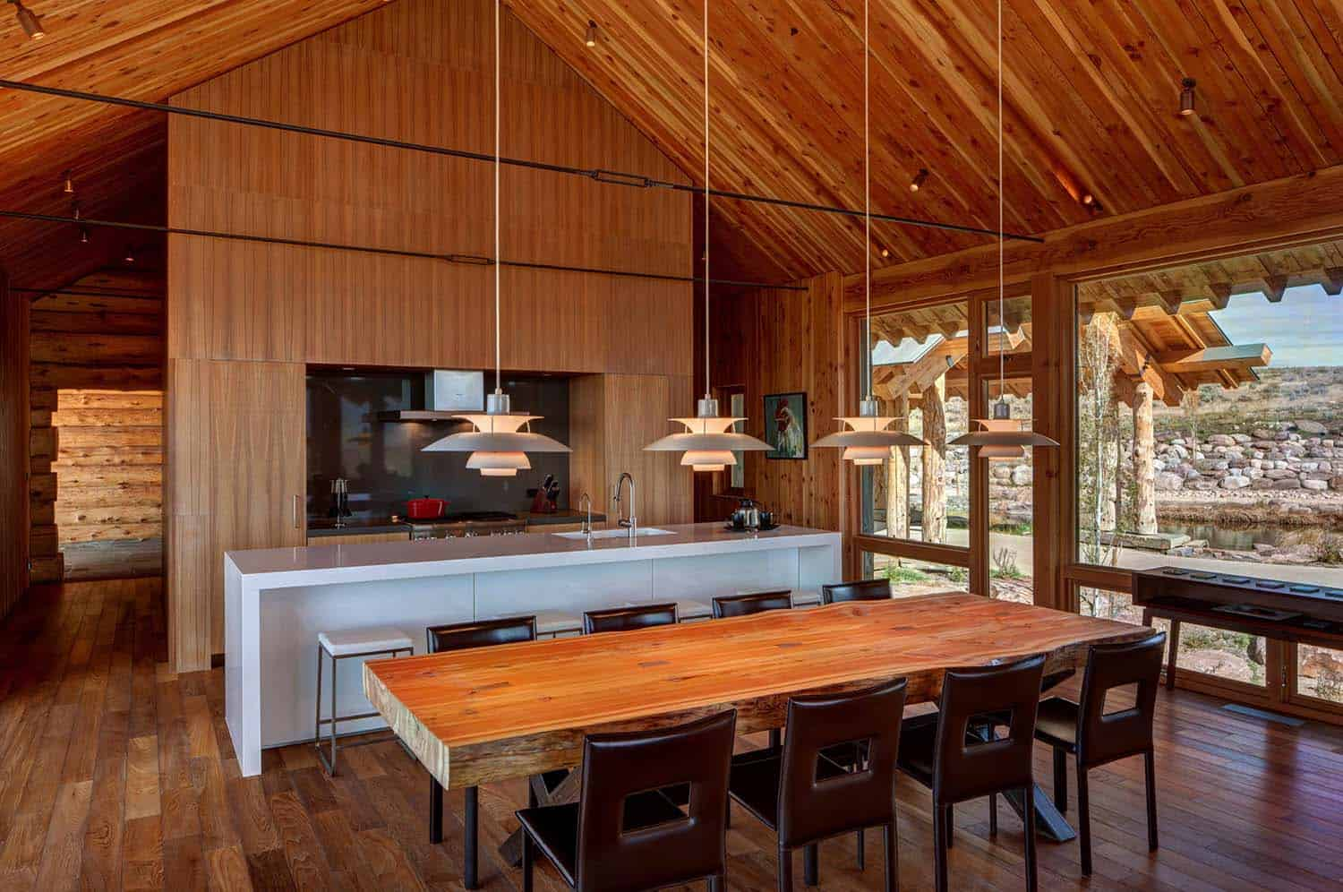 Modern Rustic Log Home-Shubin Donaldson Architects-10-1 Kindesign