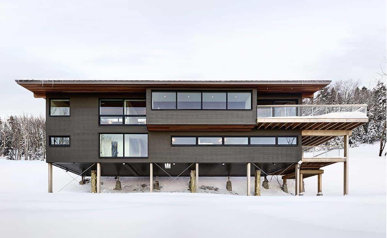 Modern Ski Chalet-Robitaille Curtis-15-1 Kindesign