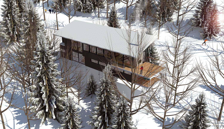 Modern Ski Chalet-Robitaille Curtis-16-1 Kindesign