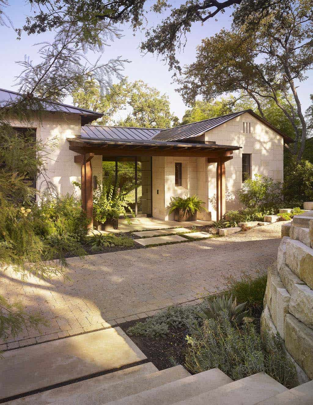 Stunning rustic modern home nestled on beautiful lake austin texas Home furniture rental austin texas