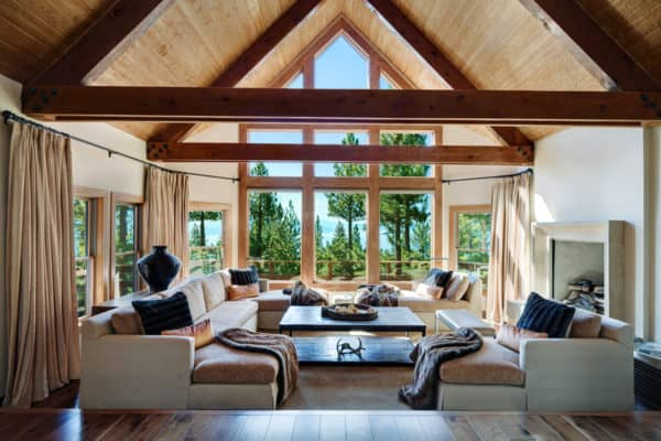 featured posts image for Modern-rustic mountain retreat showcases sweeping views of Lake Tahoe