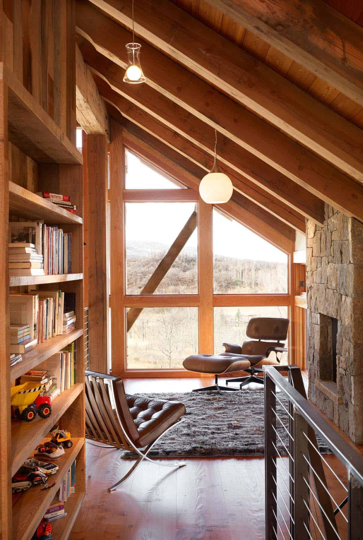 Natural Veneered Wooden Flush Door Design Mdf Living Room: Rustic Eco-friendly Home Perched On The Picturesque Elkins