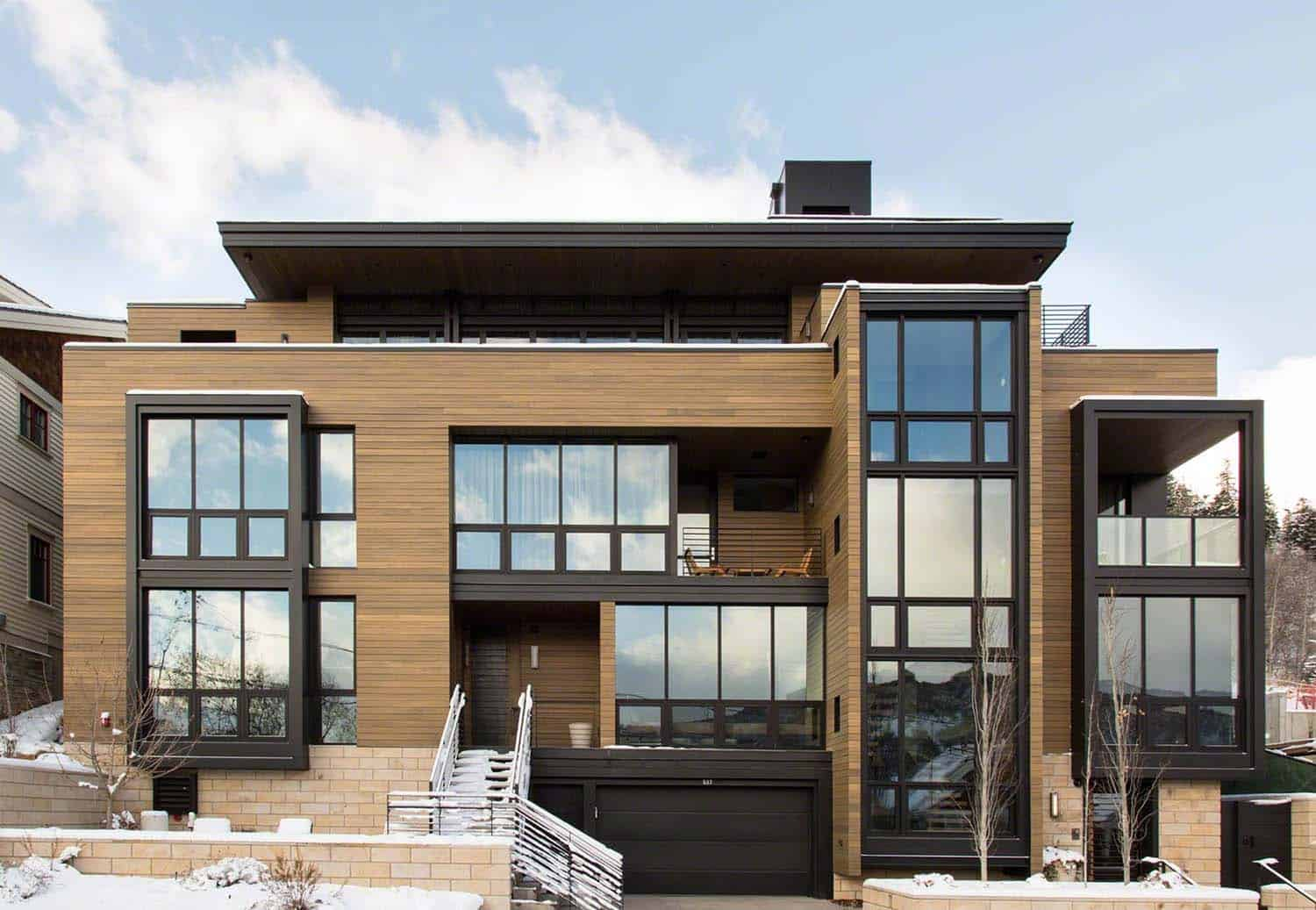 Exceptional design features form this contemporary ski for Modern home design utah