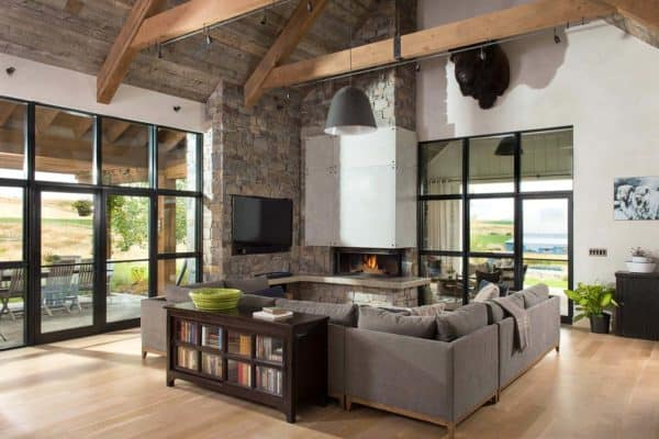 featured posts image for Farmhouse style residence embraces warm and inviting design in Montana
