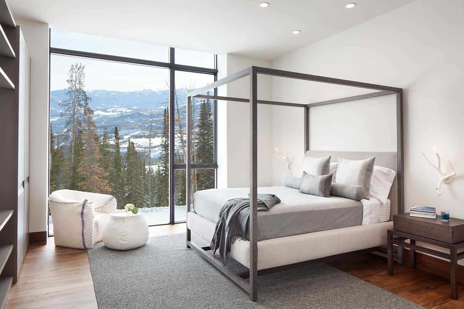 Modern mountain living full of transparency and light in for Mountain modern bedroom
