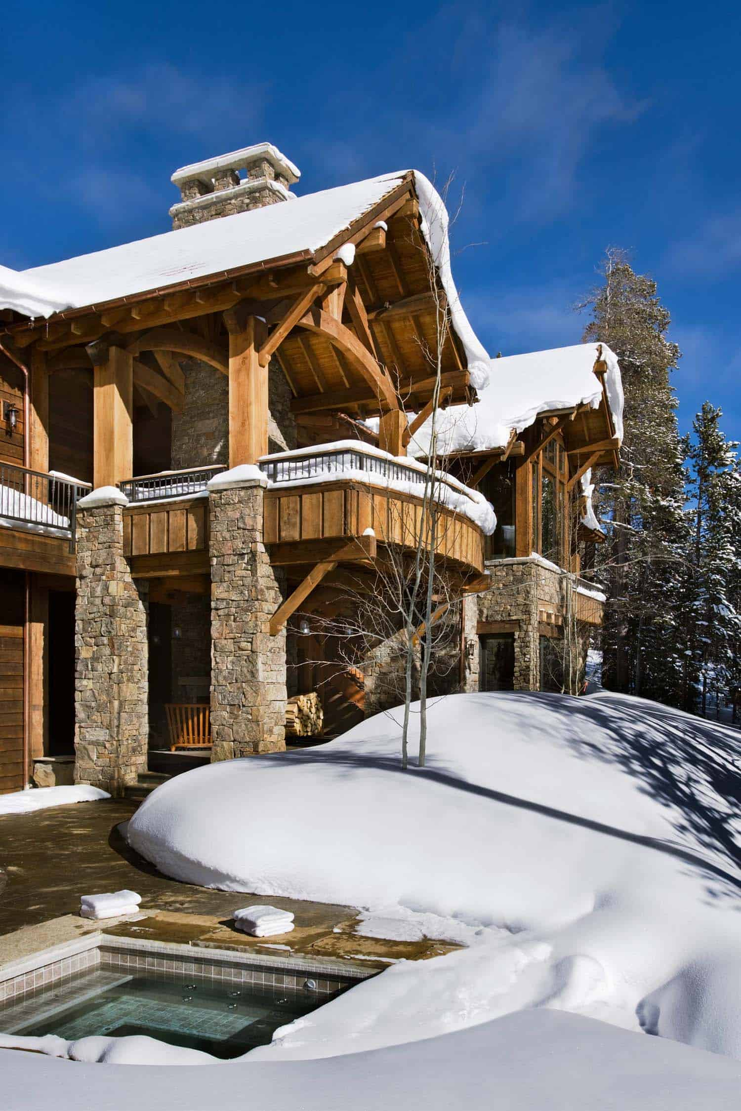 Mountain Architects Hendricks: Enchanting Modern-rustic Dwelling In The Rugged Mountains