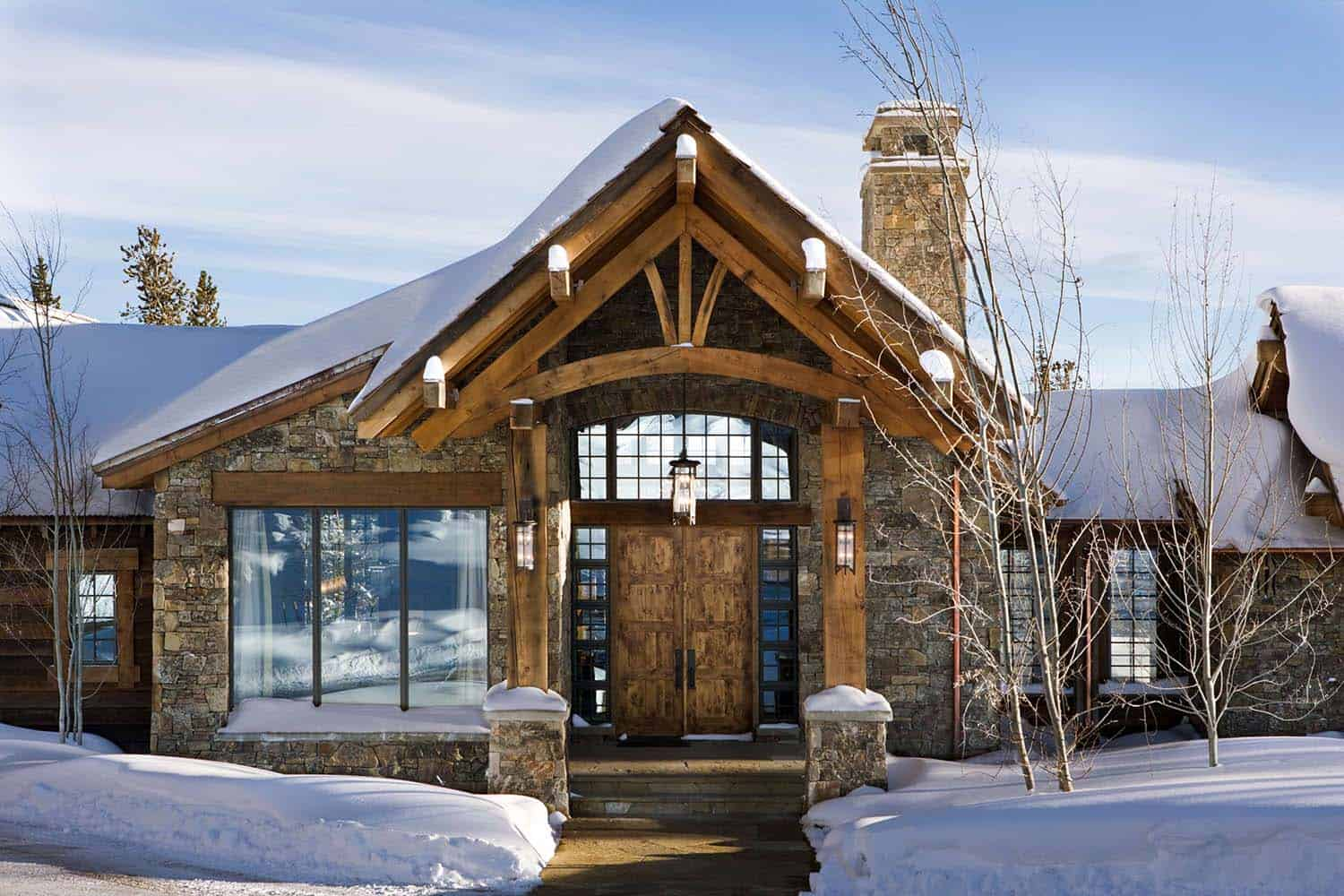 Enchanting modern rustic dwelling in the rugged mountains for Montana style house plans