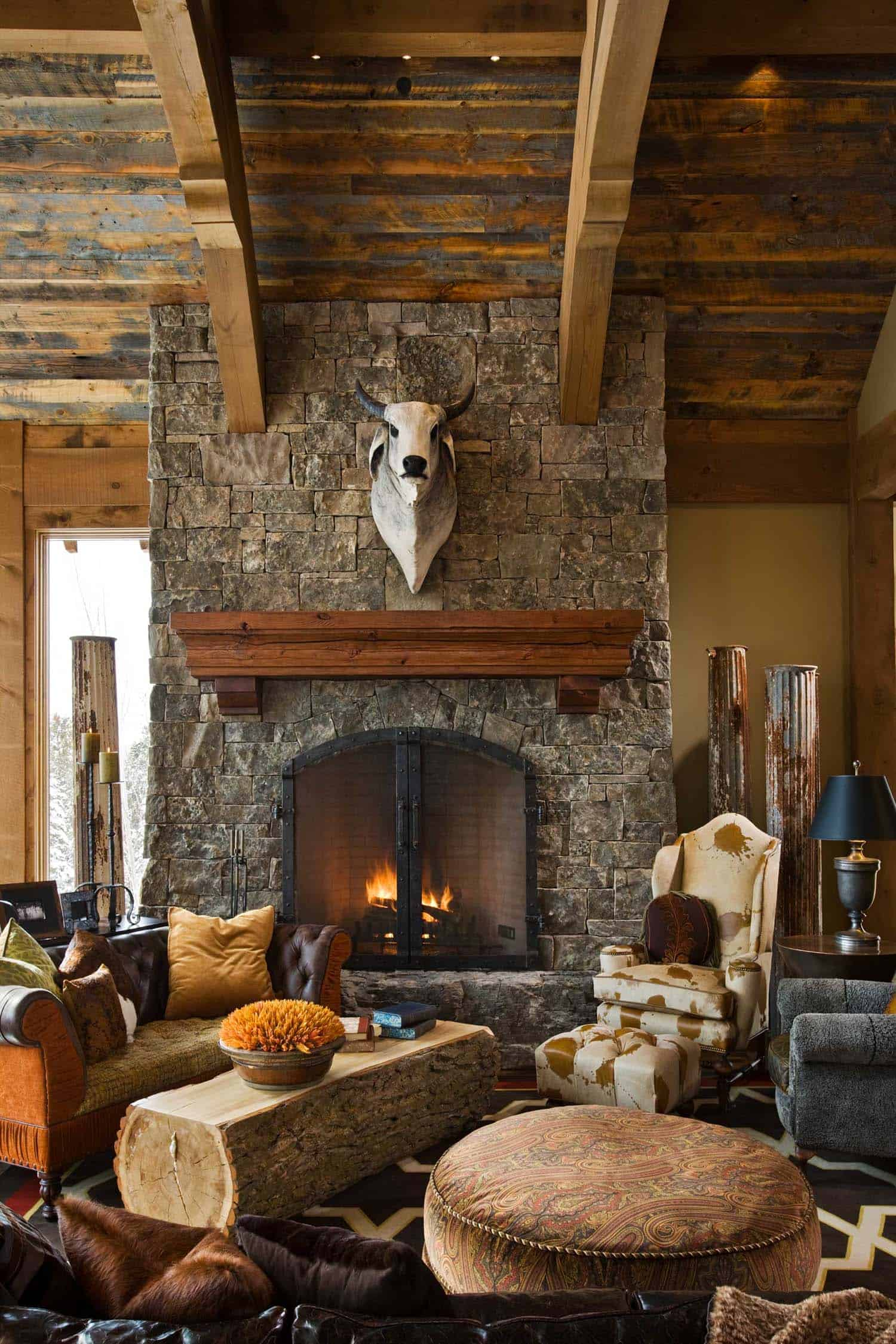 Enchanting Modern Rustic Dwelling In The Rugged Mountains Of Big Sky
