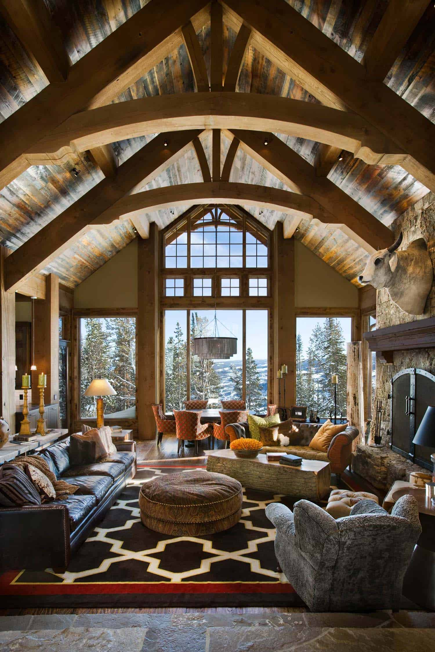 Enchanting modern-rustic dwelling in the rugged mountains ...
