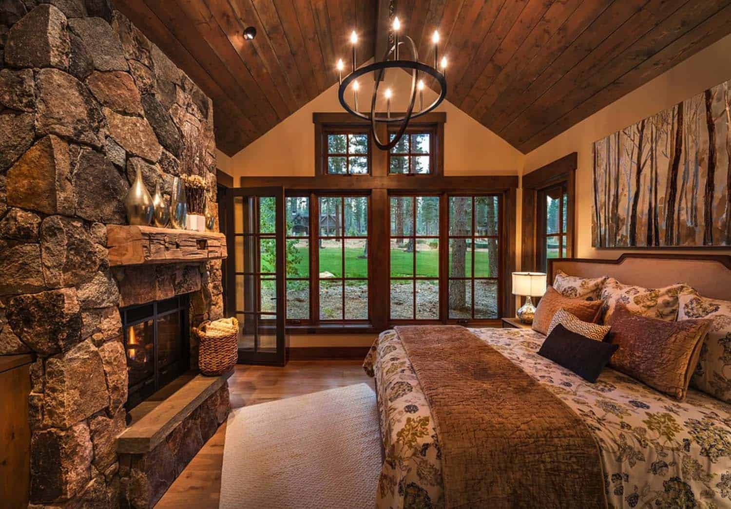 40 amazing rustic bedrooms styled to feel like a cozy getaway. Black Bedroom Furniture Sets. Home Design Ideas