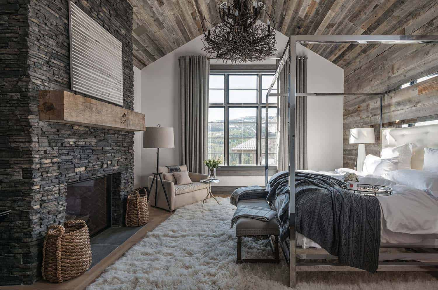 40 amazing rustic bedrooms styled to feel like a cozy getaway Rustic style attic design a corner full of passion