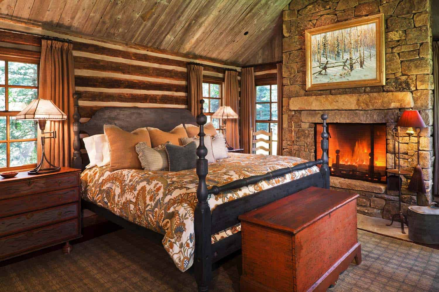 Amazing Cozy-Rustic Bedrooms-08-1 Kindesign