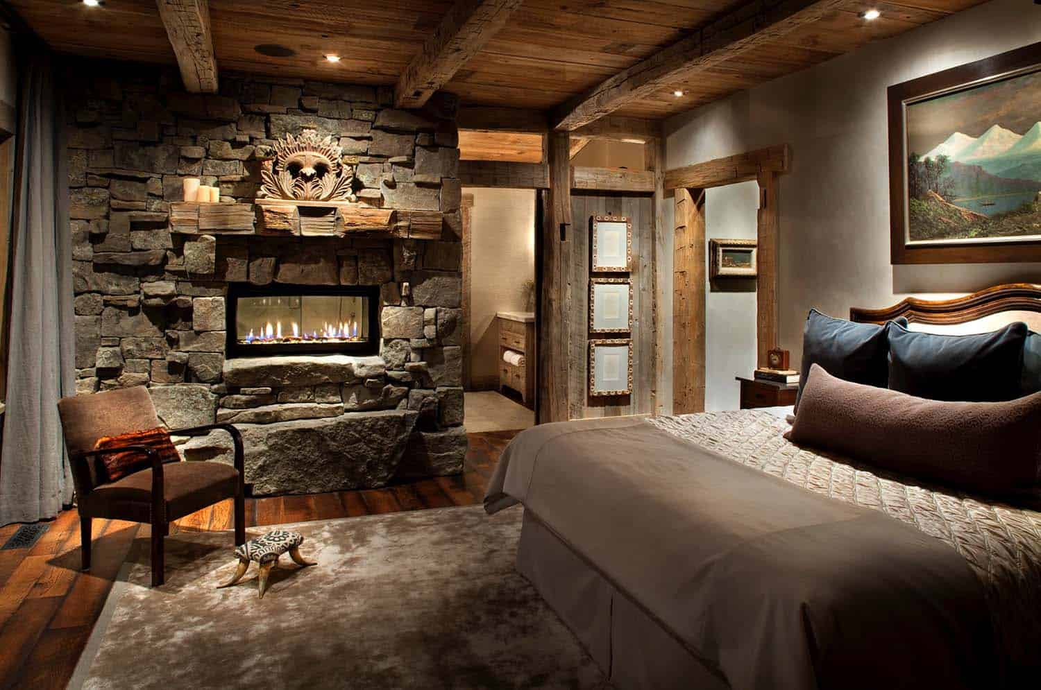 Amazing Cozy-Rustic Bedrooms-21-1 Kindesign